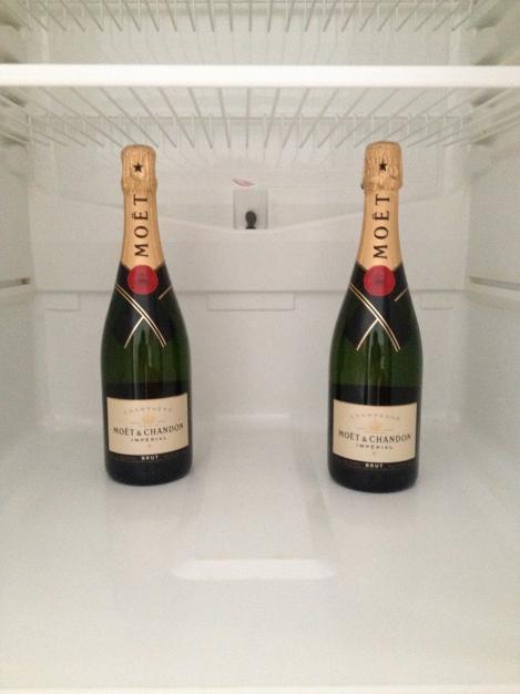 kjøleskapet med det mest nødvendigste for å overleve en slik ekspedisjon