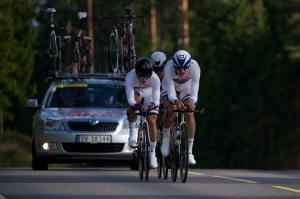 Her lider jeg, Sverre Lunde Pedersen og Ole Andre underveis på NM lagtempo. foto:alan@billyeald.com