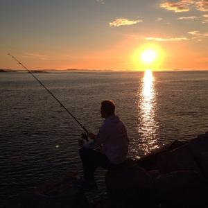 Fikk tid til litt fiske underveis i Lofoten