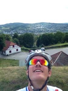 Her en liten selfie på toppen av kongsvinger festning