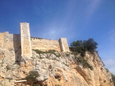 Syklet også noen intervaller opp til dette gamle slottet uten for byen Felanitx, gode partier med 20%,