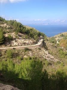 Her er bilde av nedkjøringen til Ermita de Betlem