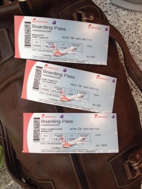 Så bar ferden videre på div fly som etter hvert fraktet meg hele veien til Norge.