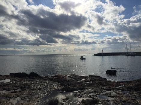 Bilde fra en av ukens turer langs kysten, vakkert på Mallorca selv med dårlig vær