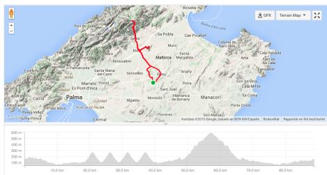 Tirsdag er ukens første treningsdag, det er også den første av 2-3 intervall dager. Denne uken hadde jeg totalt 5 bakkedrag, de ble gjennomført slik: 4x2,6km på 400-405 watt i 8,5min så 1x8,3km på 370watt i 23min