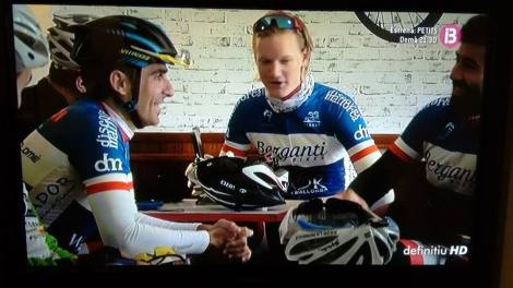 Screenshot fra tv-sendingen på spansk tv