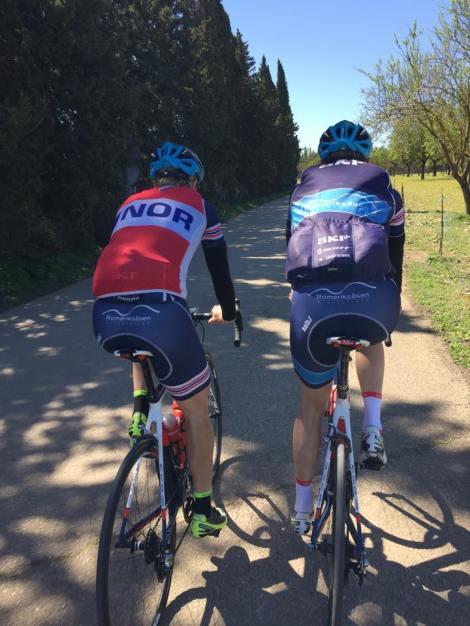 Ole og Kalle i front på de spanske landeveier. Kommer til å savne disse veiene i tiden frem over.