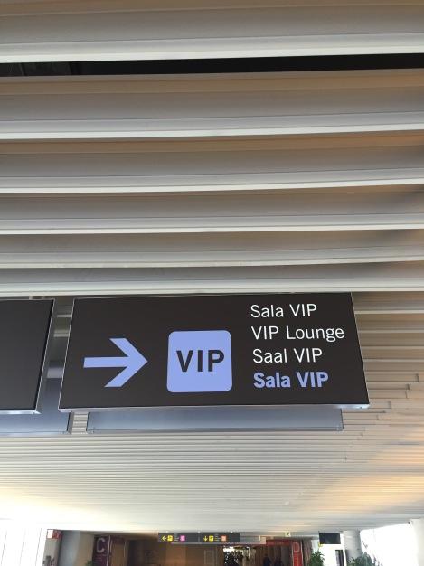 Så gikk turen til Palma flyplass, der gikk turen rett til dette skiltet