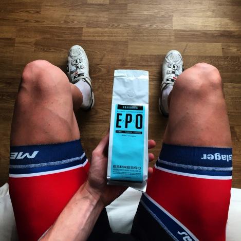 Før Norges Cup start her hjemme har jeg gått til innkjøp av kraftig kaffe som bør gi meg noen % bedre bein.