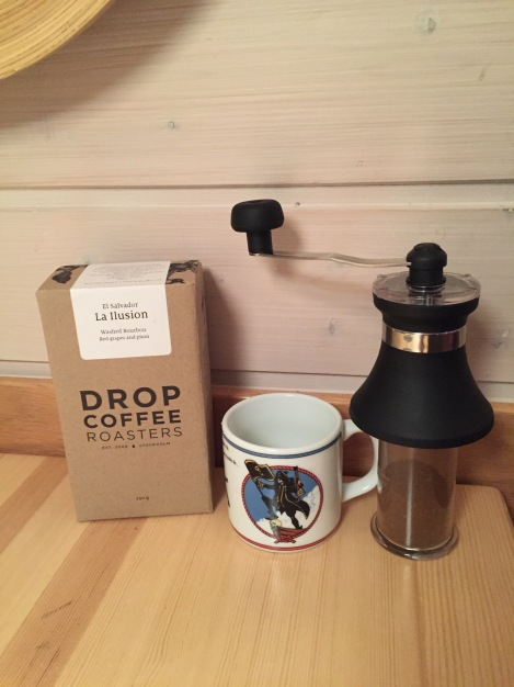 Jeg fikk også trøste kaffe av postkaffe.no etter tempoen så kommer meg gjennom motgangen.