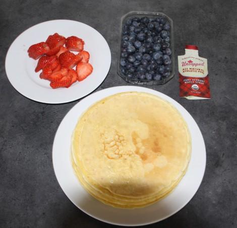Mamma har også laget pannekaker i dag :) Jeg fikk også sneket inn litt Untapped der også :)