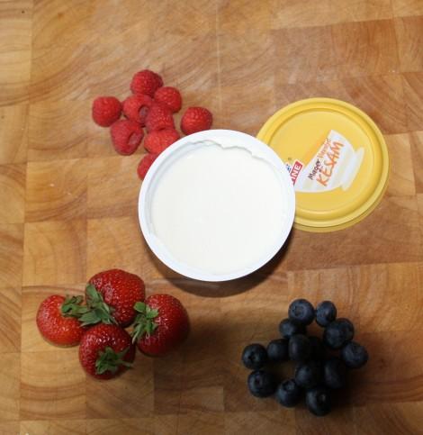 Kjøp inn dette, gjerne andre frukter og bær hvis dette er ønskelig!