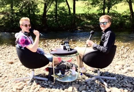 Jeg var på tirsdag på besøk hos Landevei, i deres utendørs-studio for innspilling av radiointervju, dette kommer i et innlegg senere i dag så følg med :) Foto: Henrik Alpers