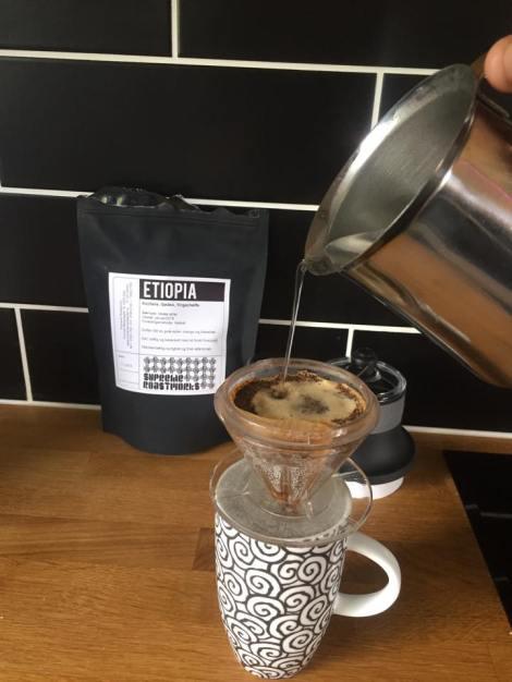 Avslutter med noe så enkelt, men likevel så vakkert som kaffe :) Etiopisk kaffe smaker nydelig <3