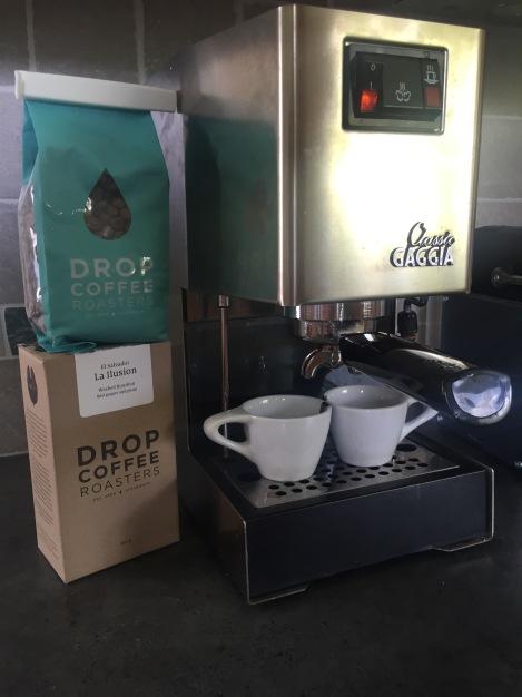 Mellom langturene nyter jeg skikkelig kaffe fra Postkaffe.no laget med skikkelig espressomaskin <3