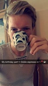 Tro det eller ei, men dagen startet med en aldri så lite pre-ride kaffe! Type dobbel espresso <3