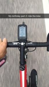 Neste steg var å trimme litt på sykkelen!