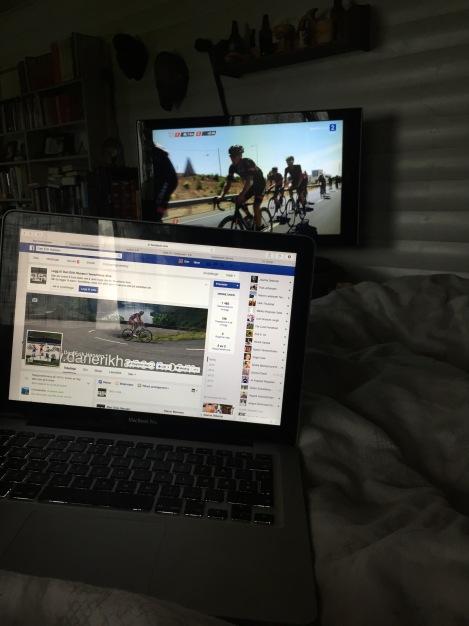 Så ligger jeg ca 1,5 time som en slakt på sofaen, gjerne med noe hyggelig på tv:)