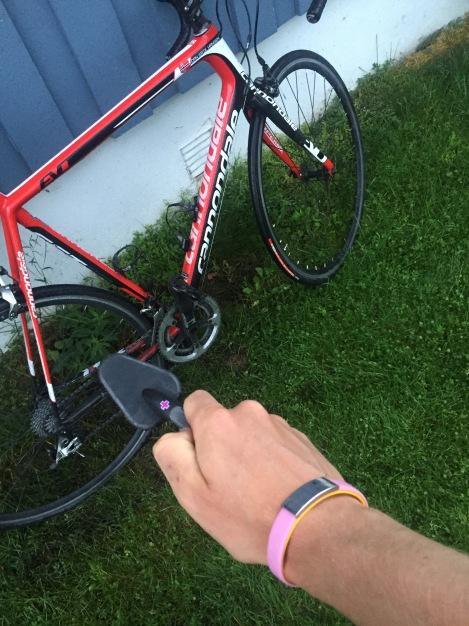 Så må jo sykkelen få litt pleie, vaskes, smøres og tørkes...