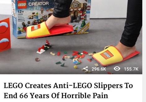 Dette er uten tvil øverst på min ønskeliste til jul, nå kan vi kanskje leke trygt med Lego i fremtiden uten å risikere helsen ja for ikke å snakke om livet..Takk til Eli for dette tipset som kan redde så mange fra lidelse.