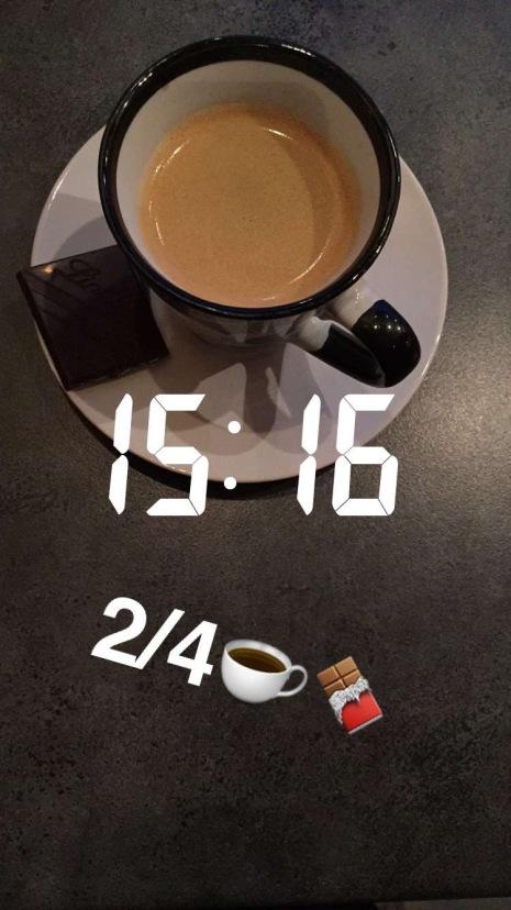Etter intervallene ble det tid til en aldri så liten kaffekopp med nydelig kaffe:)