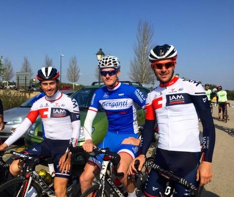 Sondre Holst Engen har også vært endel av treningsgruppen vår, her med Pirmin Lang fra IAM. God matching på ritt og hyggelig selskap på trening:)