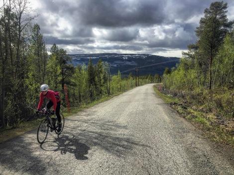 At vi får kvalitetstid sammen på trening er også gøy, selv om veinettet ikke er så stort i Finnmark er naturen nydelig.