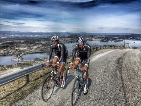 Helt klart gode minner fra sykkelsetet med Wilmann, her fra UCI rittene i mai.